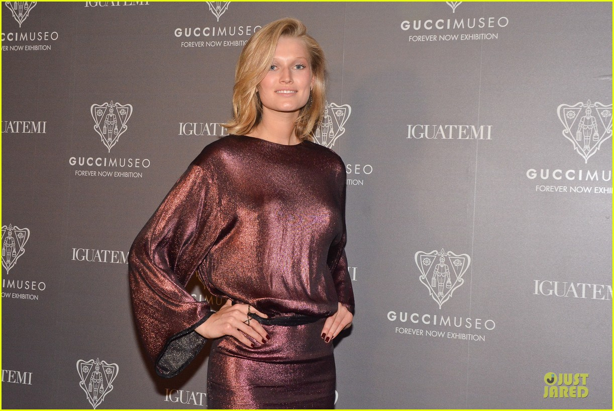 toni garrn sexy back at gucci museo exhibit 093123627