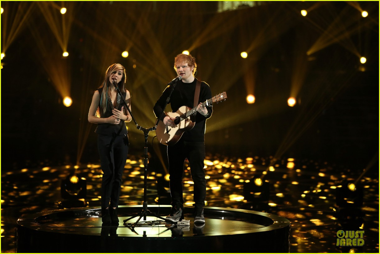 christina grimmie ed sheeran perform all of the stars voice 01