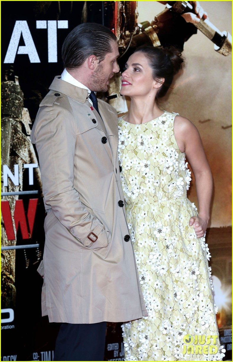 tom hardy supports girlfriend charlotte riley at edge of tomorrow london premiere 103123191