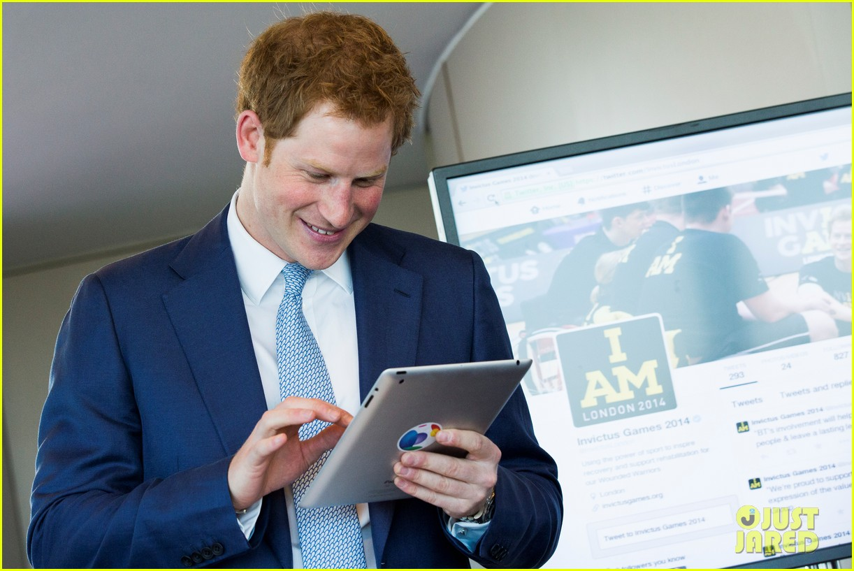 prince harry sends his first tweet ever 043113921