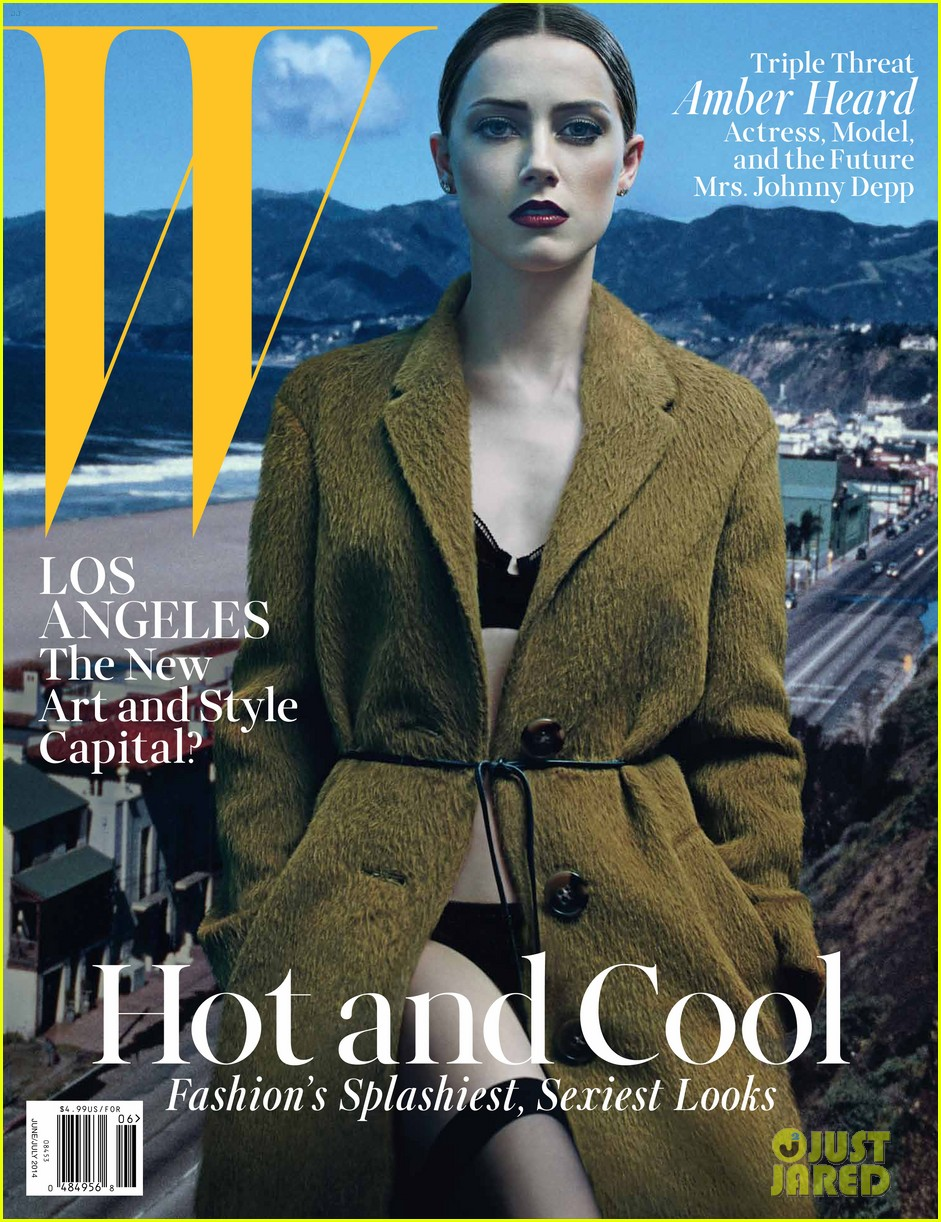 amber heard covers w magazine june 2014 023122700