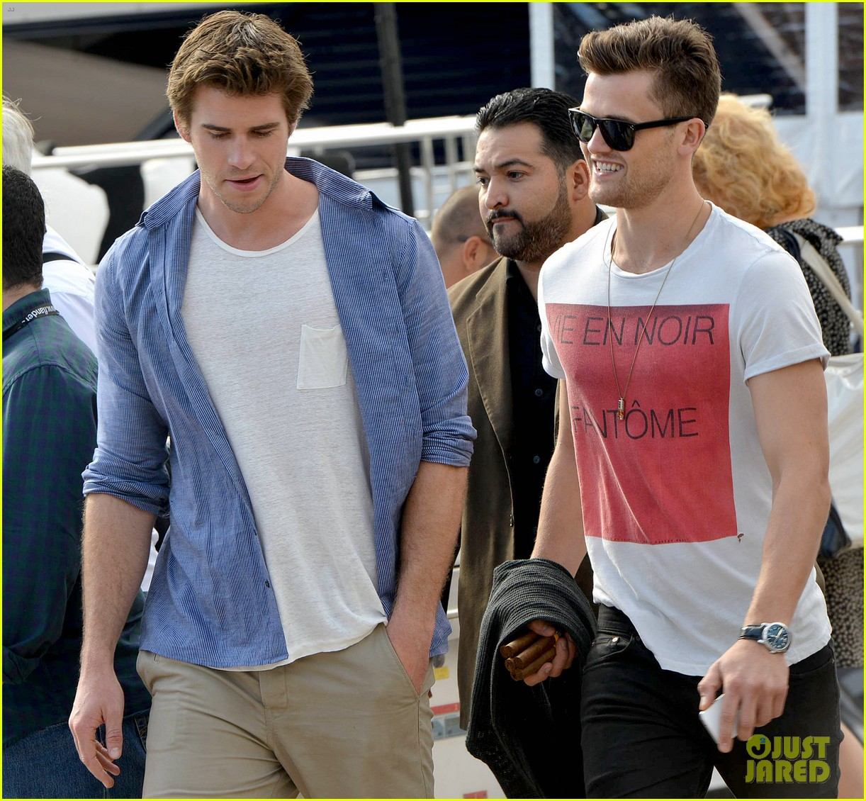 liam hemsworth josh hutcherson hunger games cannes party 203115904