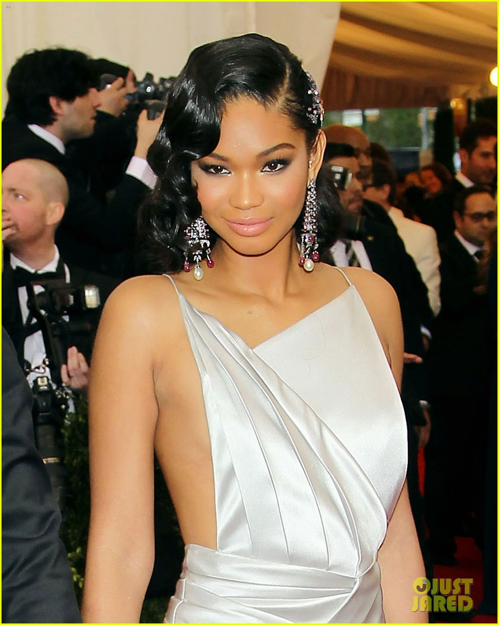 chanel iman amp aap rocky hold hands at met ball 2014