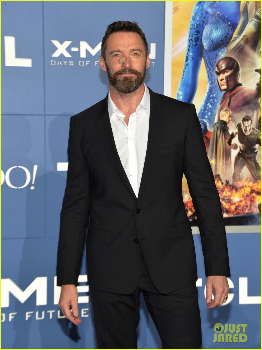 hugh jackman wears bandage on nose to x men premiere 073110318