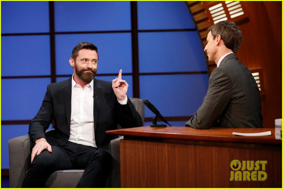 hugh jackman punched seth meyers hes worried its going to bruise 023120478