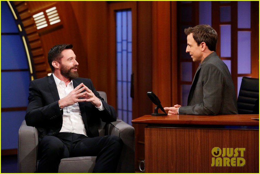 hugh jackman punched seth meyers hes worried its going to bruise 043120480