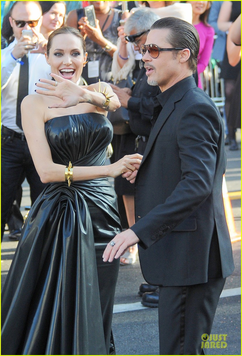 angelina jolie is brad pitts maleficent at hollywood