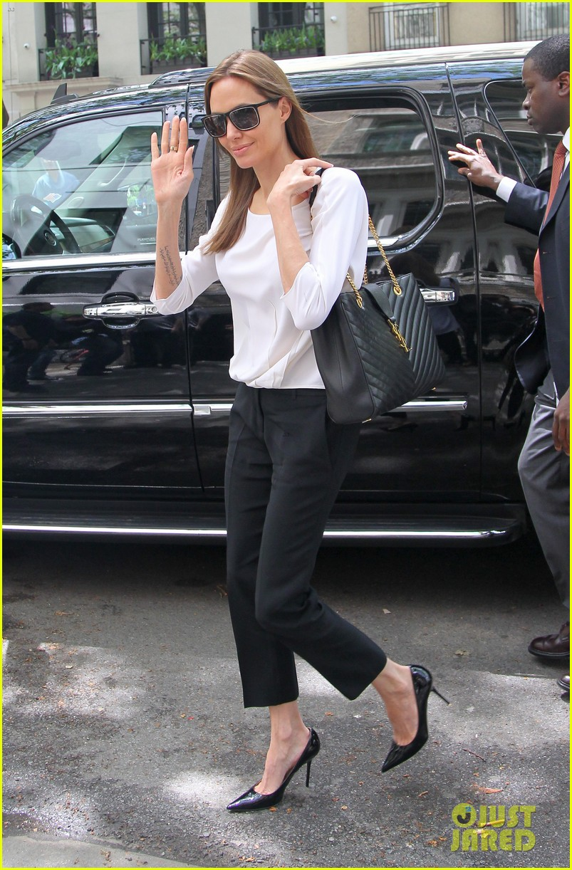 angelina jolie heads to meeting in new york city 12