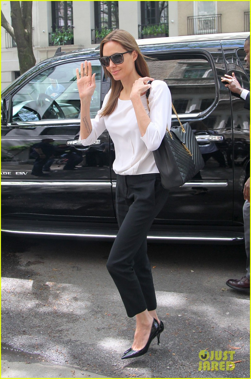 angelina jolie heads to meeting in new york city 133111540