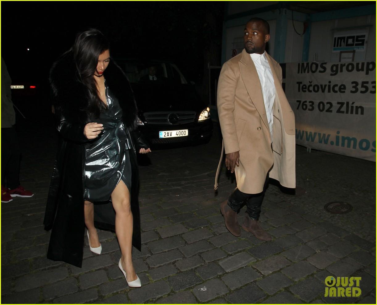 kim kardashian wears flashy dress for honeymoon date night 013124743