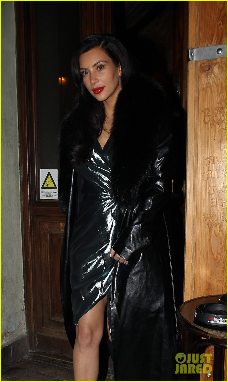 kim kardashian wears flashy dress for honeymoon date night 043124746