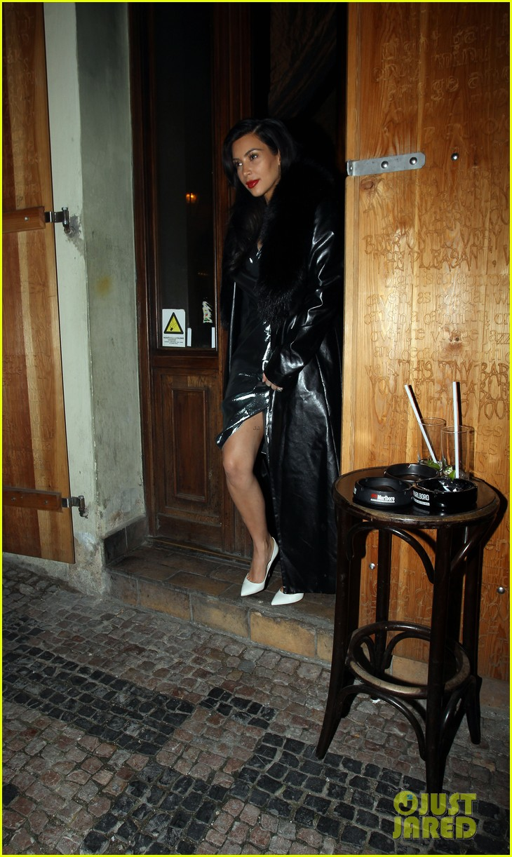kim kardashian wears flashy dress for honeymoon date night 063124748