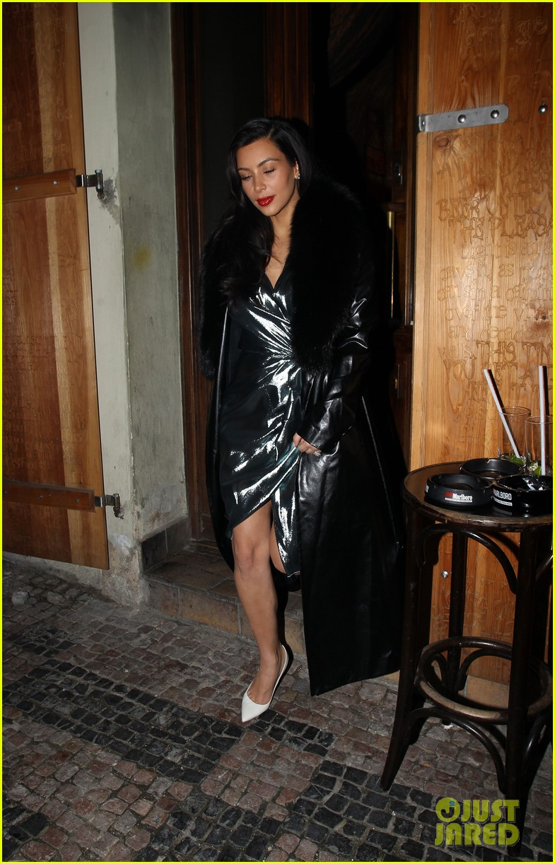 kim kardashian wears flashy dress for honeymoon date night 083124750