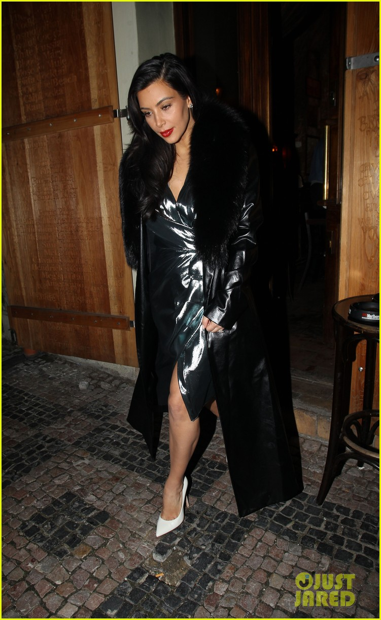 kim kardashian wears flashy dress for honeymoon date night 103124752