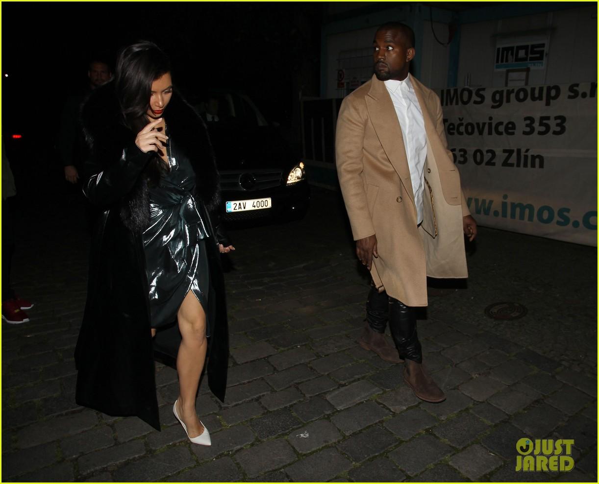 kim kardashian wears flashy dress for honeymoon date night 263124768