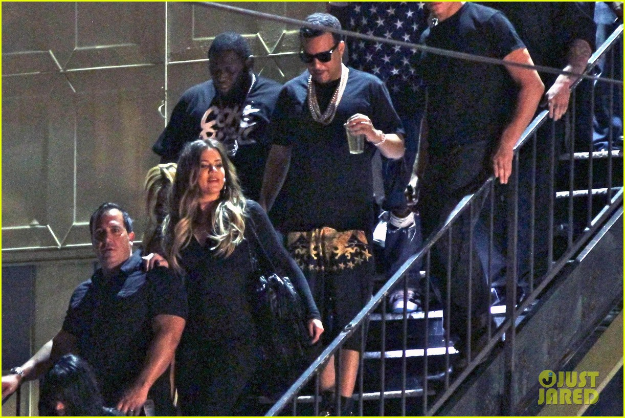 kim kardashian joins khloe to support french montana 063113371
