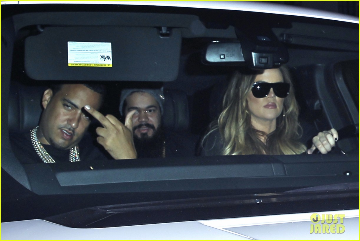 kim kardashian joins khloe to support french montana 093113374