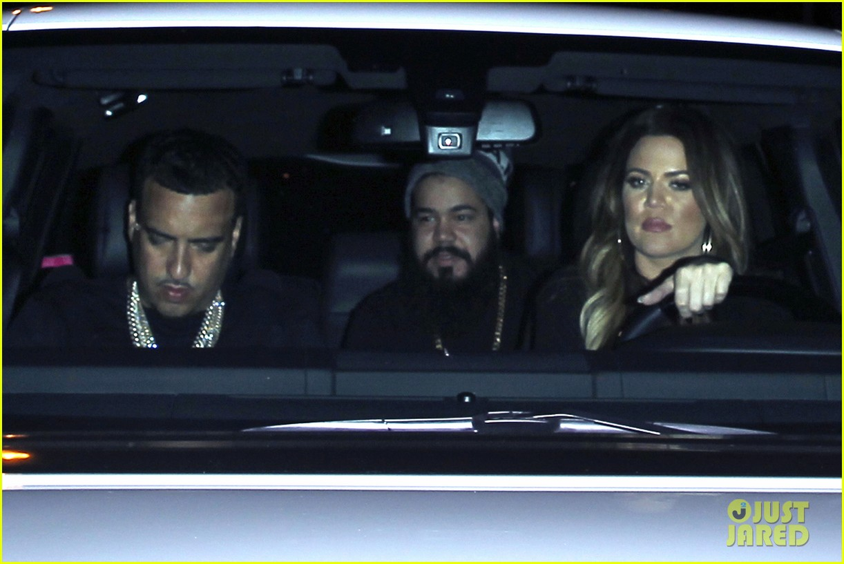kim kardashian joins khloe to support french montana 143113379