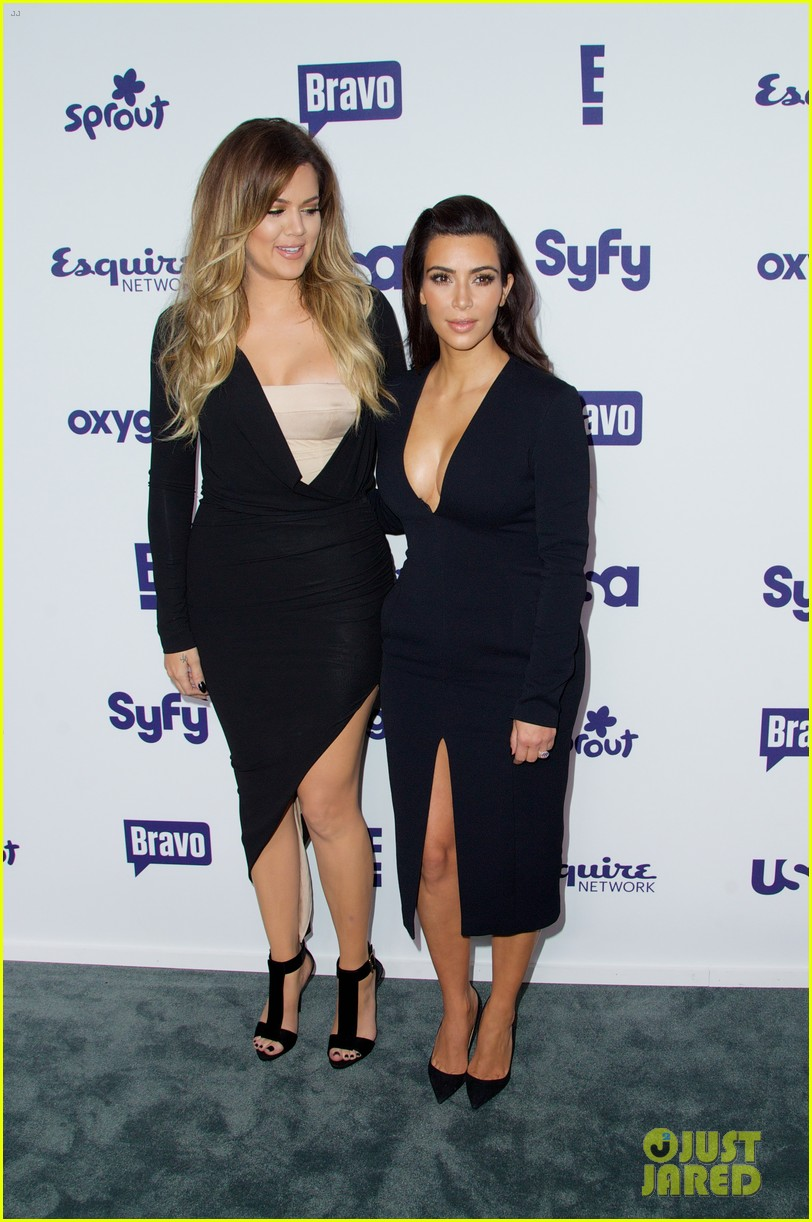 kim kardashian flashes major cleavage at nbcu upfronts 183114317
