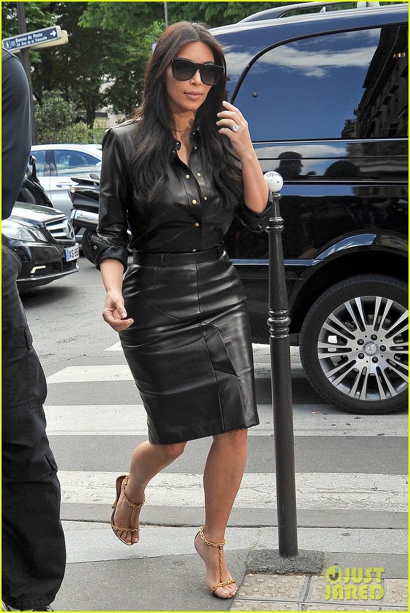kim kardashian wears tight leather dress for pre wedding shopping 133119800