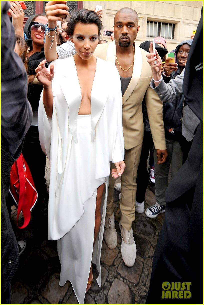 the brides in white kim kardashian wears super sexy dress 023120620