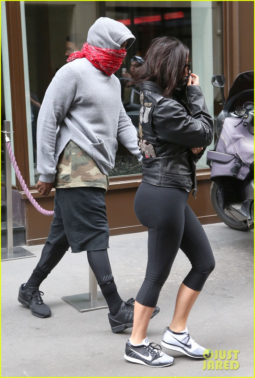 kim kardashian kanye west cover up their faces 163118106
