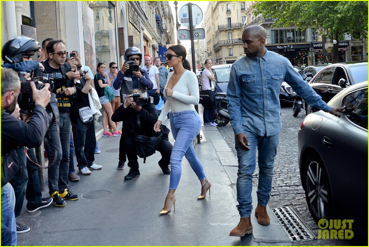 kim kardashian kanye west ice cream cones paris 03
