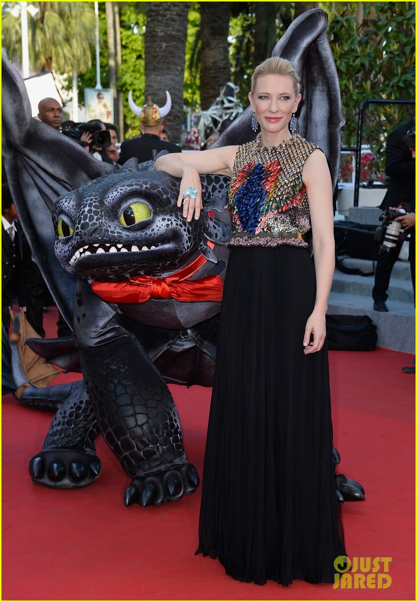 cate blanchett kit harington how to train your dragon 2 cannes premiere 123115108