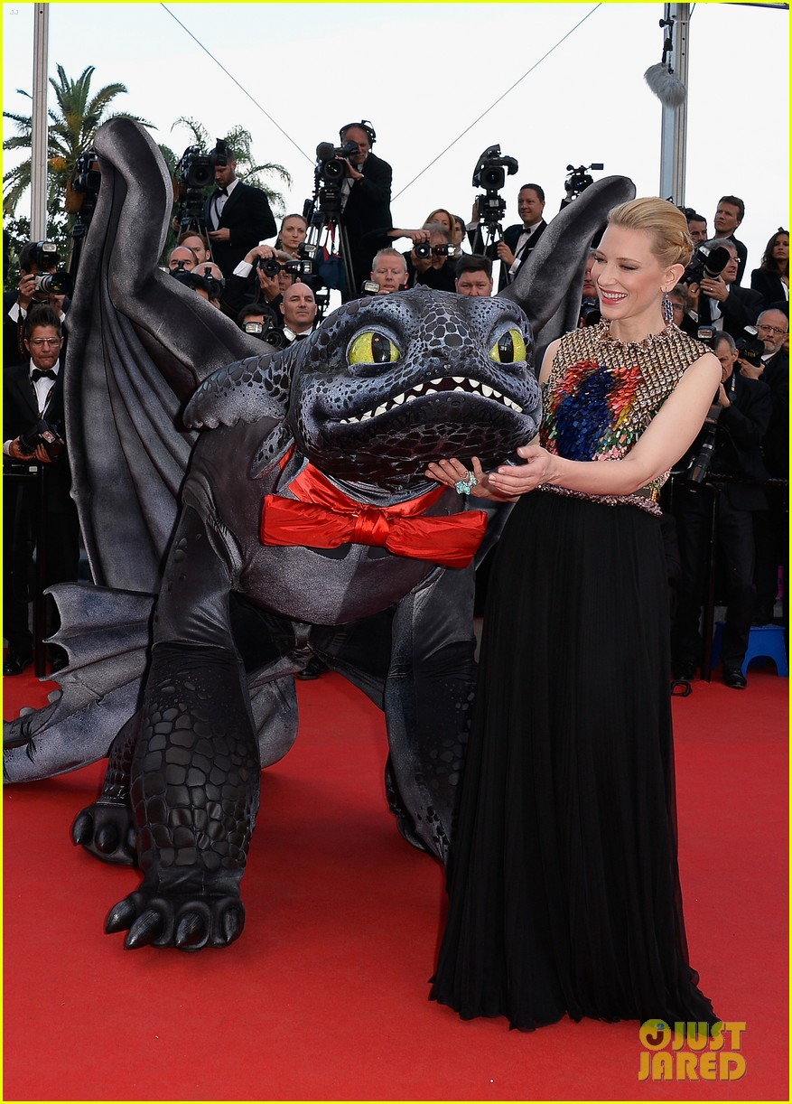 cate blanchett kit harington how to train your dragon 2 cannes premiere 153115111