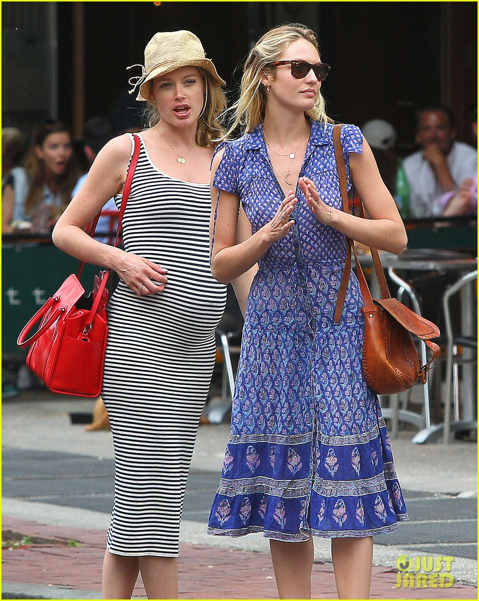 doutzen kroes steps out in nyc with candice swanepoel 063112339