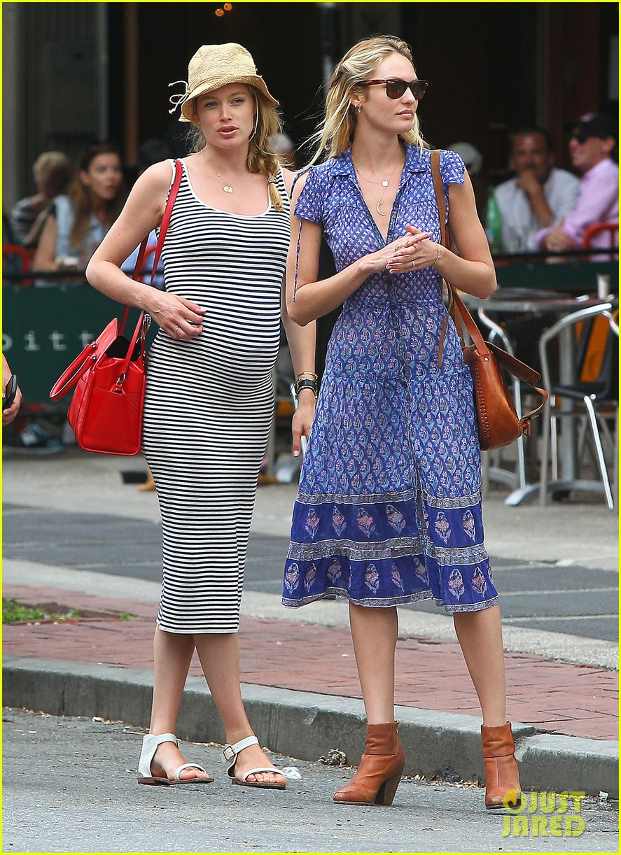 doutzen kroes steps out in nyc with candice swanepoel 073112340