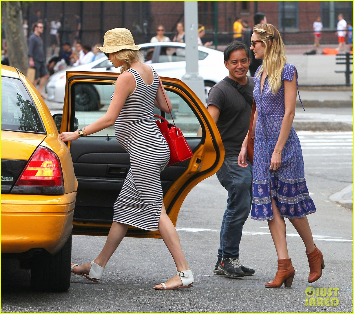 doutzen kroes steps out in nyc with candice swanepoel 133112346