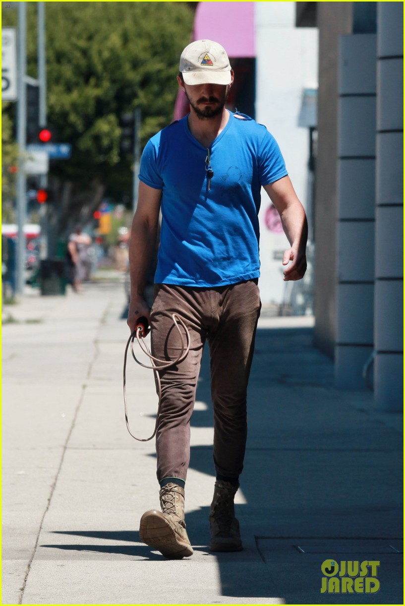 shia labeouf sure is dedicated to the gym these days 163104385