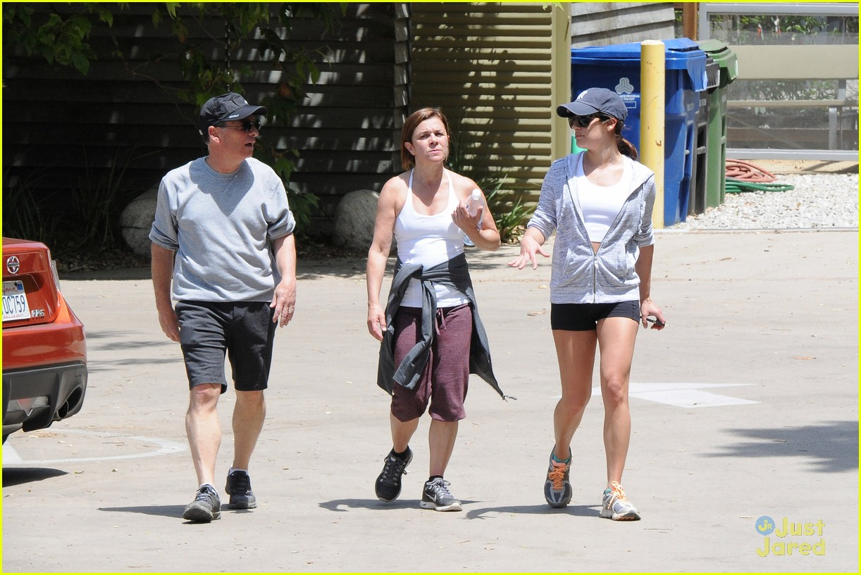 lea michele hike parents funny girl 123109892