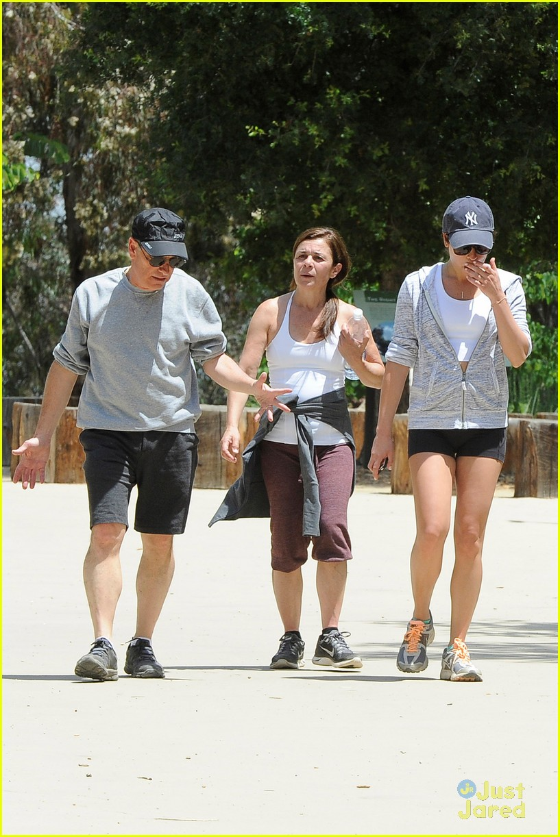 lea michele hike parents funny girl 30