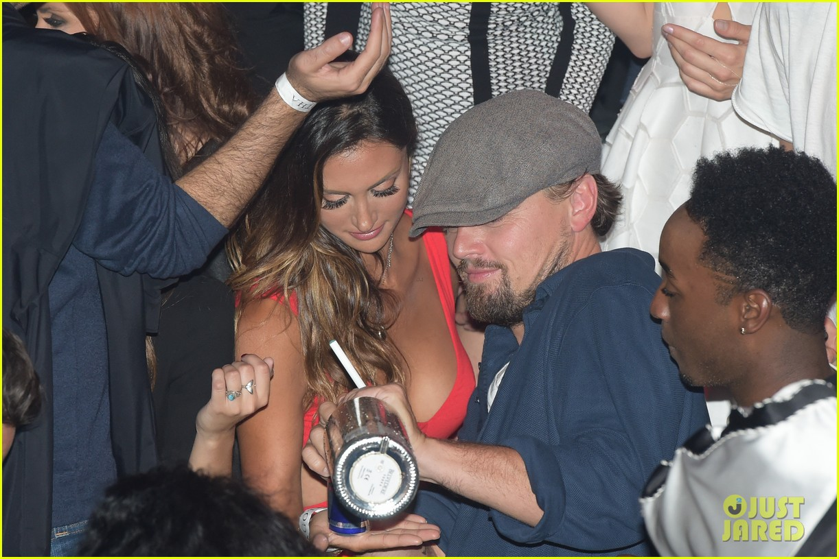 leonardo dicaprio surrounded by ladies at cannes 08