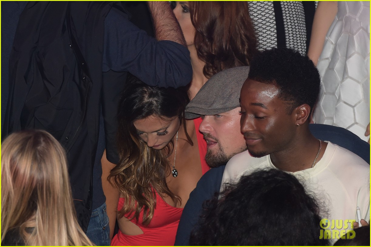 leonardo dicaprio surrounded by ladies at cannes 223118157