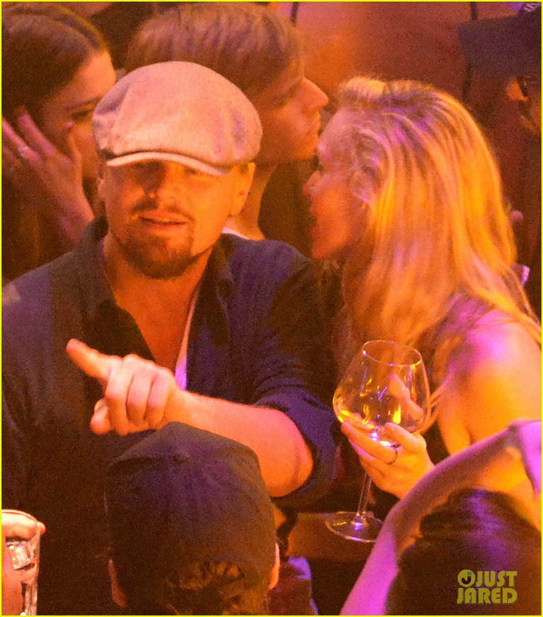 leonardo dicaprio surrounded by ladies at cannes 243118159