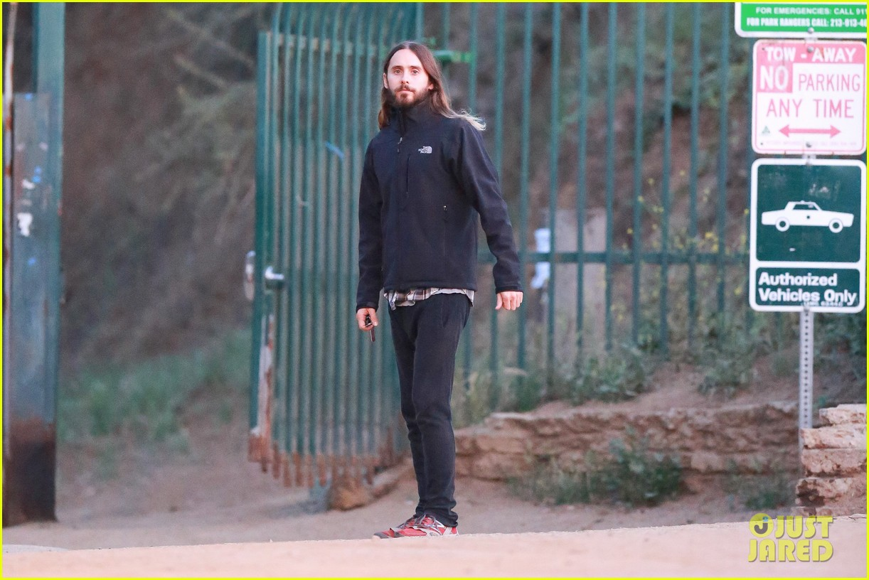 jared leto goes for a hike with a female companion 113109499