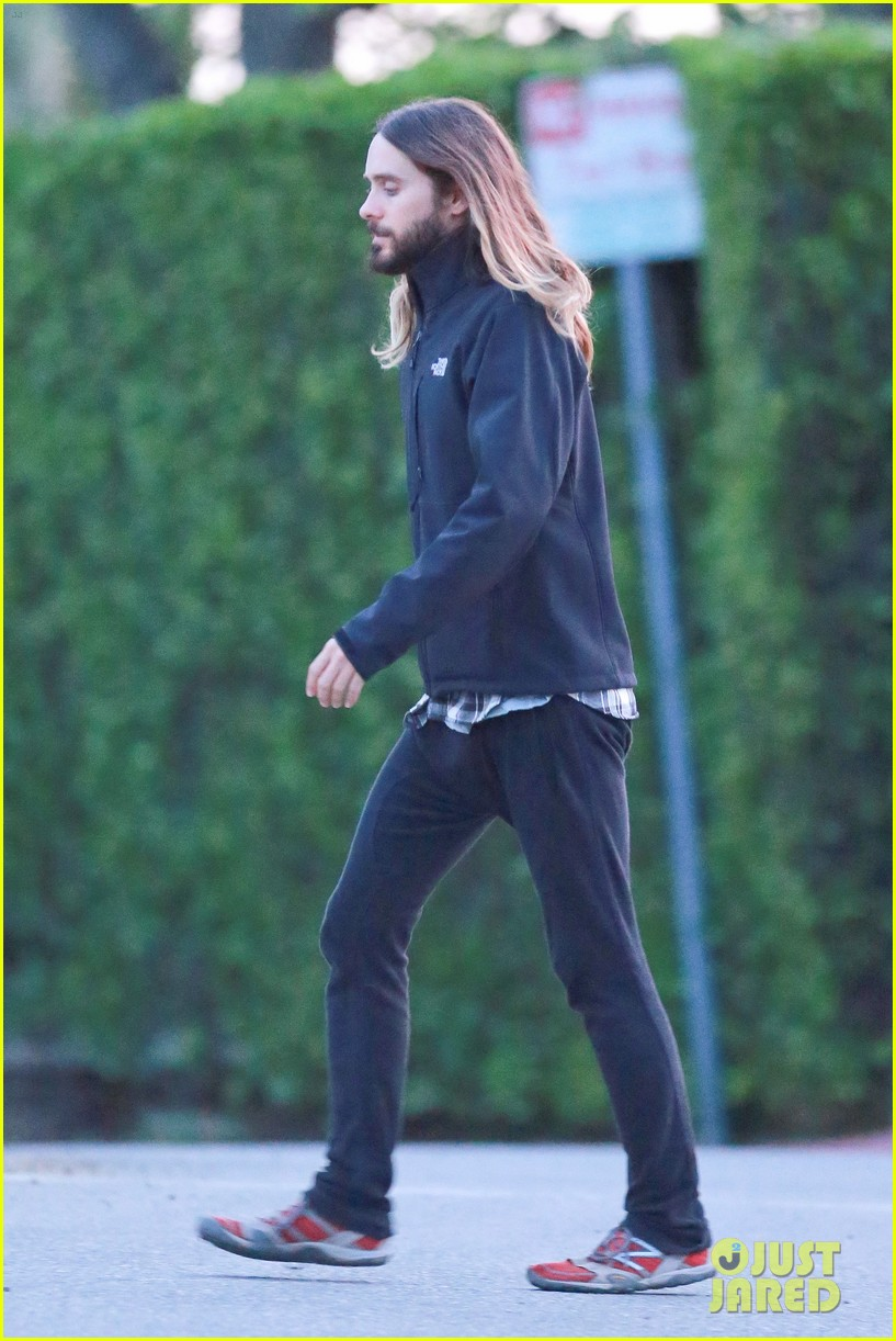 jared leto goes for a hike with a female companion 123109500