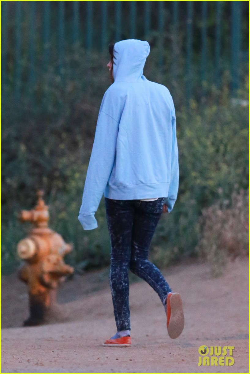 jared leto goes for a hike with a female companion 133109501