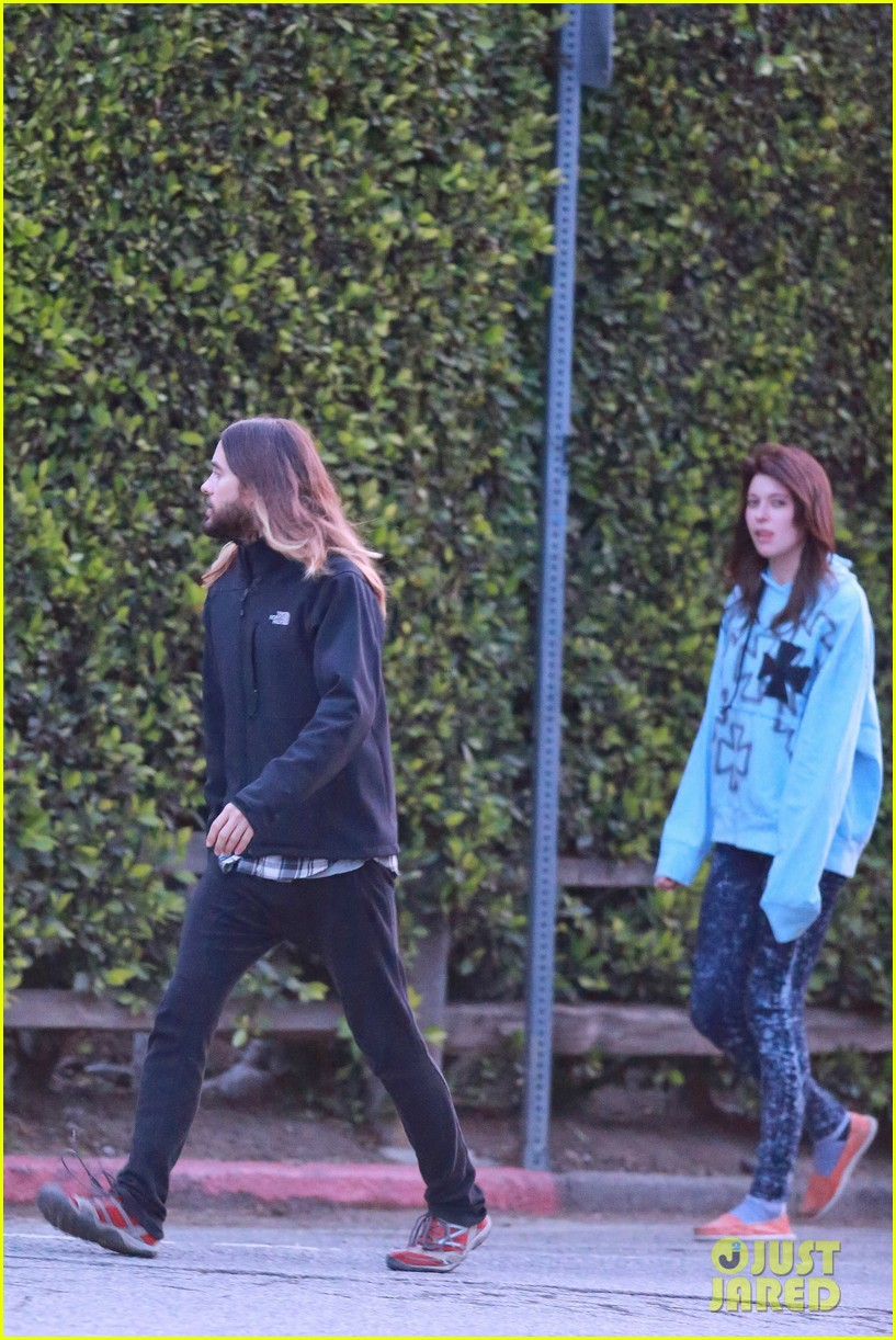 jared leto goes for a hike with a female companion 153109503