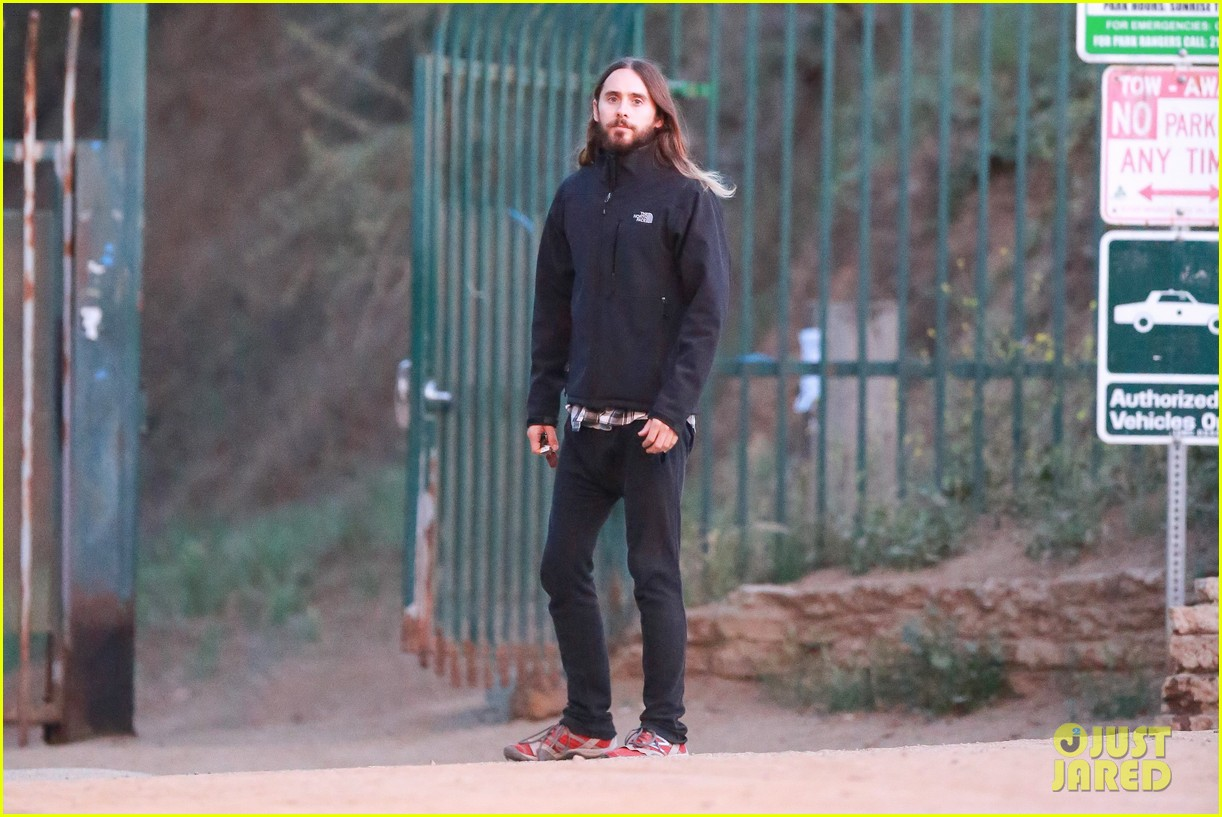 jared leto goes for a hike with a female companion 203109508