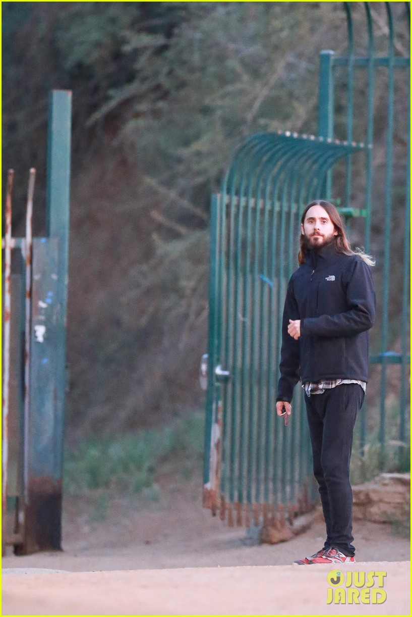 jared leto goes for a hike with a female companion 213109509