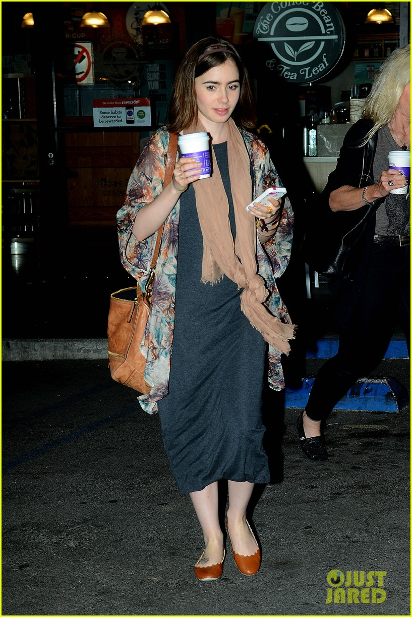 lily collins announced new fall face barrie knitwear 023117262
