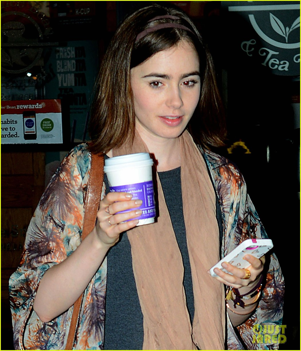 lily collins announced new fall face barrie knitwear 033117263