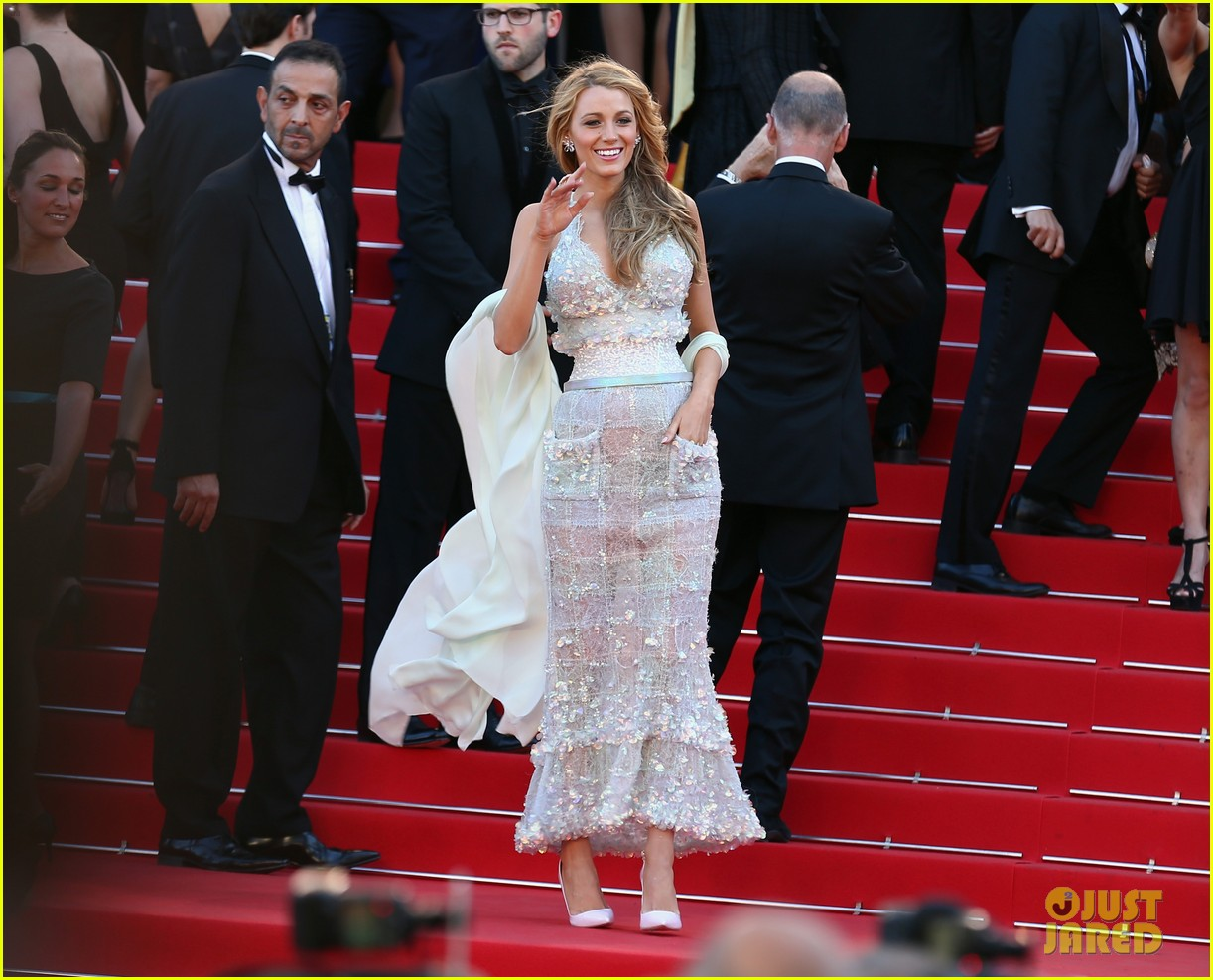 blake lively keeps her hands in her couture dress pockets 113114065