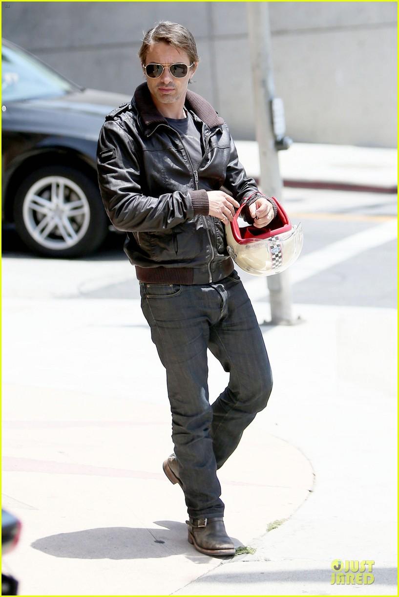olivier martinez carrys motorcycle purse like a purse 133118673