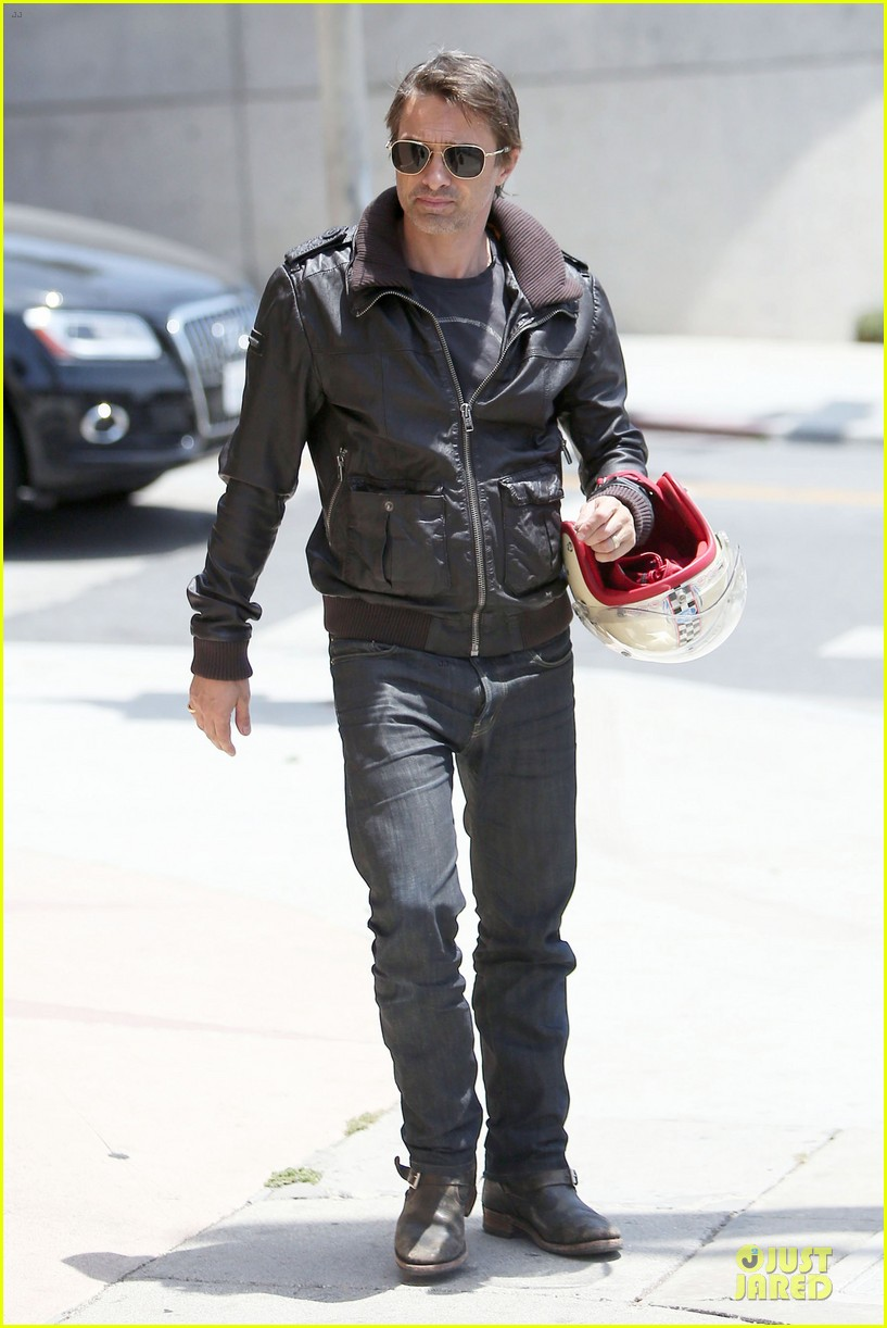 olivier martinez carrys motorcycle purse like a purse 193118679