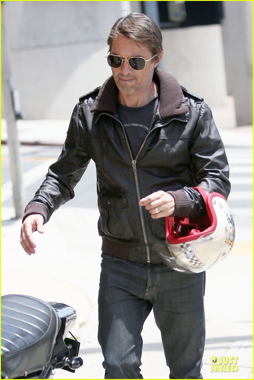 olivier martinez carrys motorcycle purse like a purse 253118685